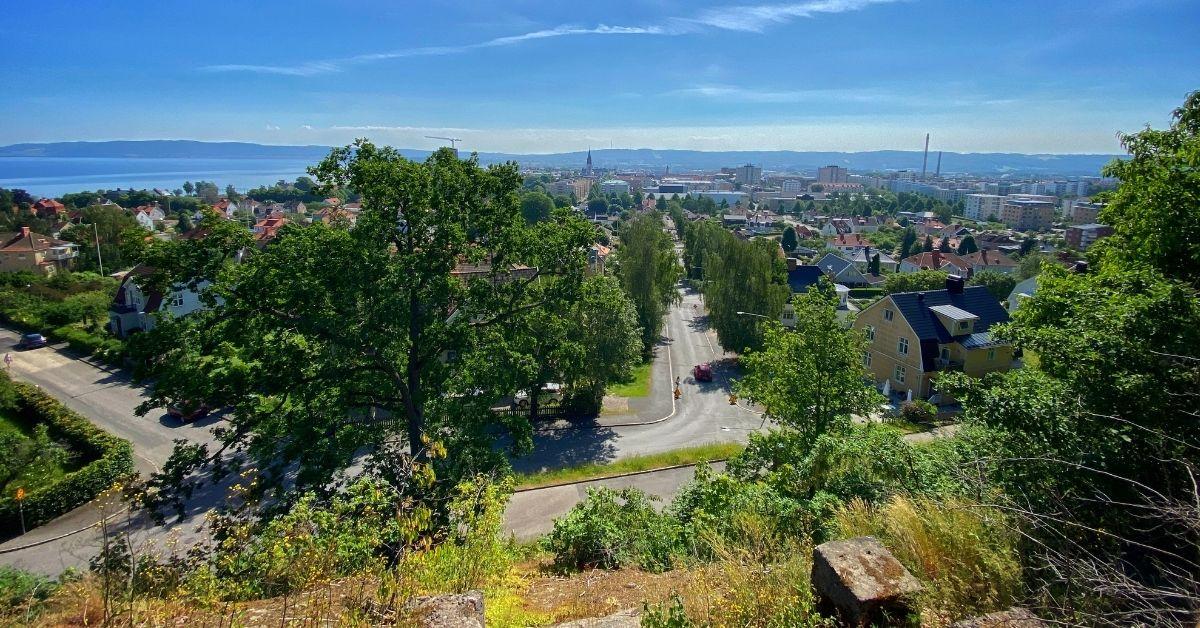 Utsikt från Stadsparken Jönköping